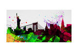 New York City Skyline 2 Print by  NaxArt