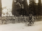 WWI: the Battalion of the Bersaglieri and the Soldiers Cyclists Photographic Print