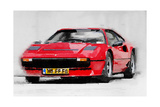 Ferrari 208 GTB Turbo Watercolor Prints by  NaxArt