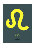 Leo Zodiac Sign Yellow Posters