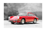 1964 Porsche 911 Watercolor Prints by  NaxArt