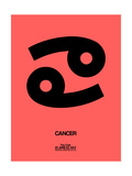 Cancer Zodiac Sign Black Prints by  NaxArt