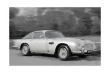 Aston Martin DB5 Watercolor Prints by  NaxArt