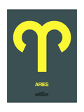 Aries Zodiac Sign Yellow Print