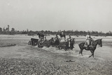 Military Exercises on the River Brenta Photographic Print