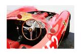 Ferrari Cockpit Monterey Watercolor Kunstdruck von  NaxArt