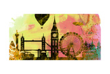 London City Skyline Posters by  NaxArt
