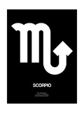 Scorpio Zodiac Sign White Poster by  NaxArt