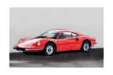 Ferrari Dino 246 GT Watercolor Posters