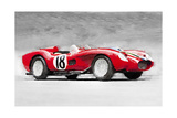 NaxArt - 1957 Ferrari Testarossa Watercolor - Reprodüksiyon