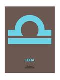 Libra Zodiac Sign Blue Print