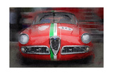 1959 Alfa Romeo Giulietta Watercolor Prints by  NaxArt