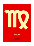 Virgo Zodiac Sign Yellow Poster by  NaxArt