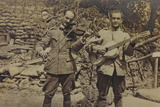 Italian Soldiers with Violin and Guitar Photographic Print