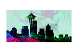 Seattle City Skyline Print by  NaxArt