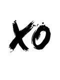 XO White Print by  NaxArt