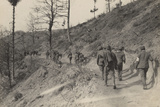 World War I: Transport of Wounded Soldiers from the Front Line of Trinceee in Saint Lucia Photographic Print