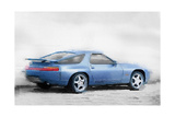 Porsche 928 Watercolor Prints by  NaxArt