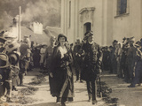Emperor Charles of Austria and King of Hungary and Zita of Bourbon During the Austrian Occupation Photographic Print