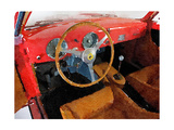 Ferrari 225 S Berlinetta Interior Watercolor Prints