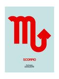 Scorpio Zodiac Sign Red Posters