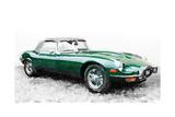 1961 Jaguar E-Type Watercolor Posters