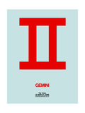 Gemini Zodiac Sign Red Print