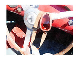 Ferrari Steering Wheel Watercolor Prints by  NaxArt