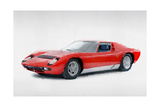 1969 Lamborghini Miura P400 S Watercolor Prints by  NaxArt