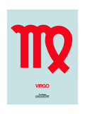 Virgo Zodiac Sign Red Prints