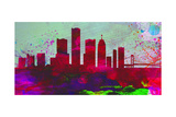 Detroit City Skyline Prints by  NaxArt