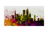 Boston City Skyline Prints by  NaxArt