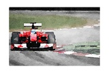Ferrari F1 on Track Watercolor Prints by  NaxArt
