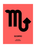 Scorpio Zodiac Sign Black Prints by  NaxArt