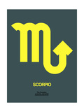 Scorpio Zodiac Sign Yellow Prints by  NaxArt