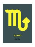 Scorpio Zodiac Sign Yellow Prints