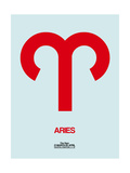 Aries Zodiac Sign Red Prints by  NaxArt