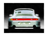 1993 Porsche 911 Rear Watercolor Poster by  NaxArt