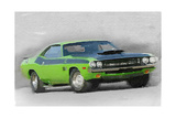 1970-TA-Challenger Watercolor Prints by  NaxArt