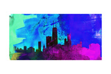 Chicago City Skyline Poster by  NaxArt