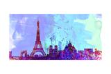 Paris City Skyline Prints by  NaxArt