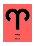 Aries Zodiac Sign Black Prints by  NaxArt