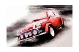 1963 Austin Mini Cooper Watercolor Affiches