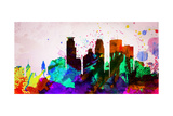 Minneapolis City Skyline Prints by  NaxArt