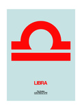 Libra Zodiac Sign Red Poster