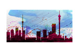 Johannesburg City Skyline Print by  NaxArt