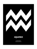 Aquarius Zodiac Sign White Poster by  NaxArt