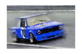 1969 BMW 2002 Racing Watercolor Posters by  NaxArt