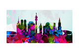 Munich City Skyline Kunstdruck von  NaxArt