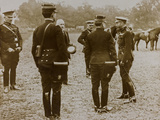 World War I: The British King George V (1865-1936) with a Group of French Officers Photographic Print